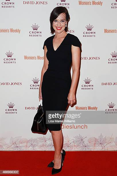 Natarsha Belling arrives at the Crown's Autumn Ladies Lunch at David Jones Elizabeth Street Store on March 20 2015 in Sydney Australia