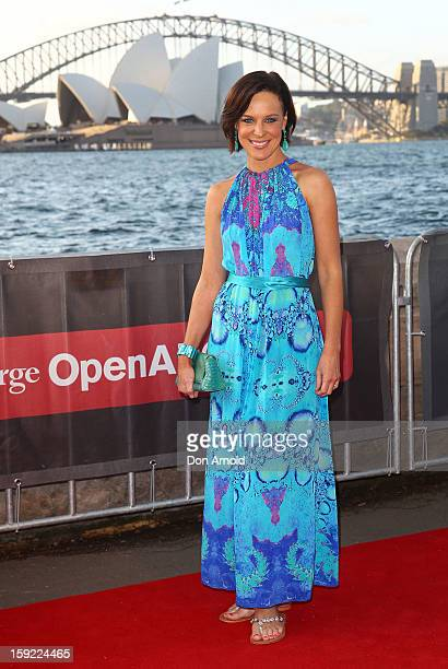 Natarsha Belling arrives at the St George OpenAir Cinema launch at Mrs Macquaries Point on January 10 2013 in Sydney Australia