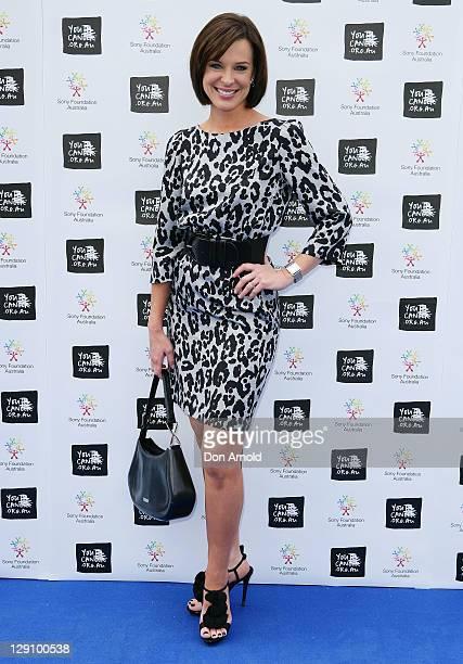 Natarsha Belling arrives at the Wharf4Ward cancer fundraiser on October 13 2011 in Sydney Australia