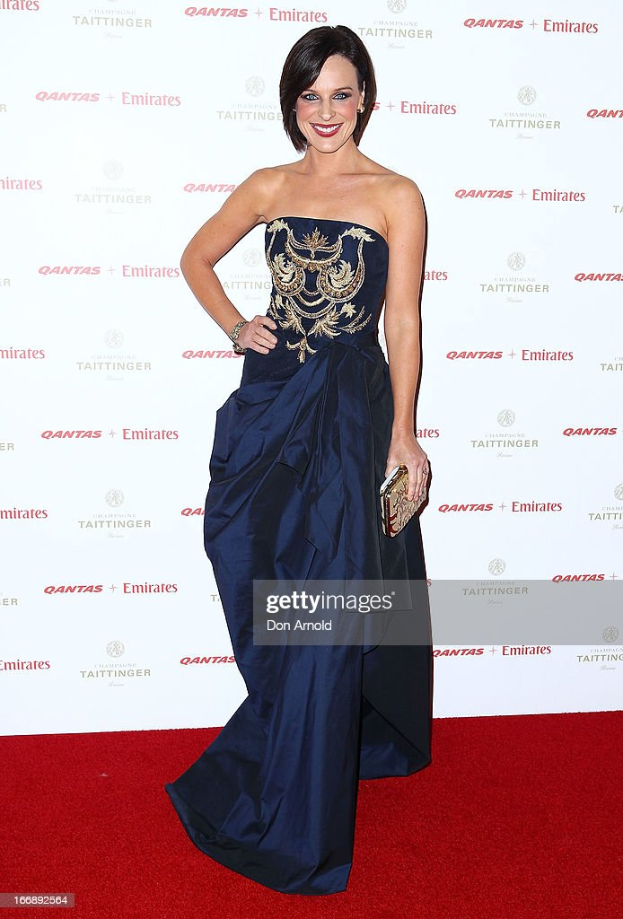 Natarsha Belling attends the QANTAS Gala Dinner at Sydney Domestic Airport on April 18, 2013 in Sydney, Australia.