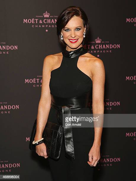Natarsha Belling poses at the Moet Chandon Grand Vintage Rose 2006 launch at the Roslyn Packer Theatre on April 8 2015 in Sydney Australia