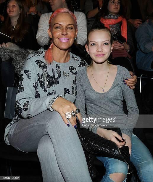 Natascha and Cheyenne Ochsenknecht attend Marcel Ostertag Autumn/Winter 2013/14 fashion show during MercedesBenz Fashion Week Berlin at Brandenburg...