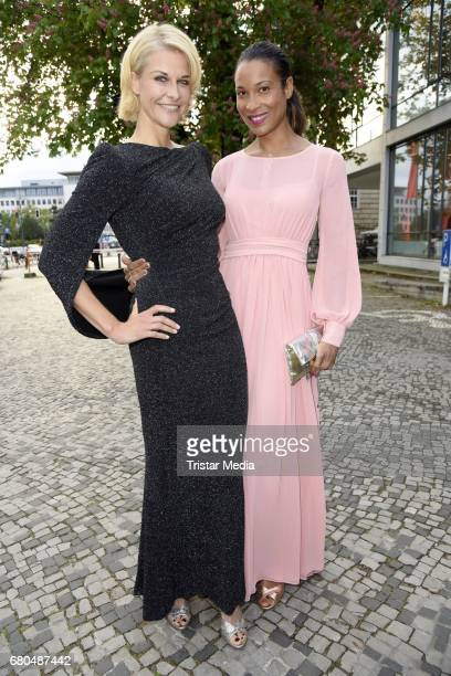 Natascha Gruen and Annabelle Mandeng attend the Victress Awards Gala 2017 on May 8 2017 in Berlin Germany