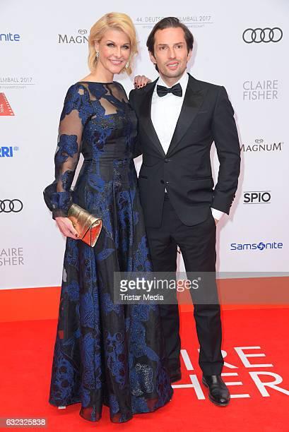 Natascha Gruen and her boyfriend Quirin Berg attend the German Film Ball 2017 at Hotel Bayerischer Hof on January 21 2017 in Munich Germany