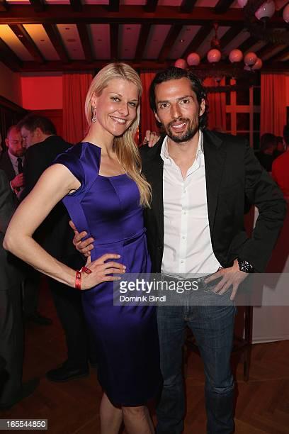 Natascha Gruen and Quirin Berg attend the CNN Journalist Award 2013 at the Künstlerhaus at Lenbachplatz on April 4 2013 in Munich Germany