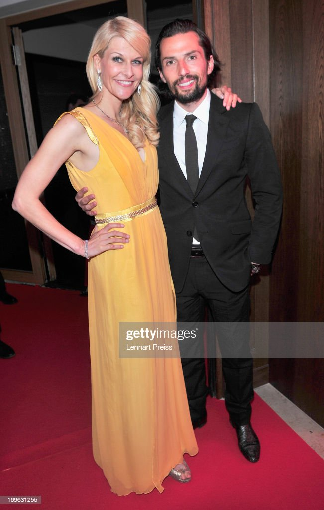 Natascha Gruen and Quirin Berg attend the Dressvegas Party at Heart Private Club on May 29, 2013 in Munich, Germany.