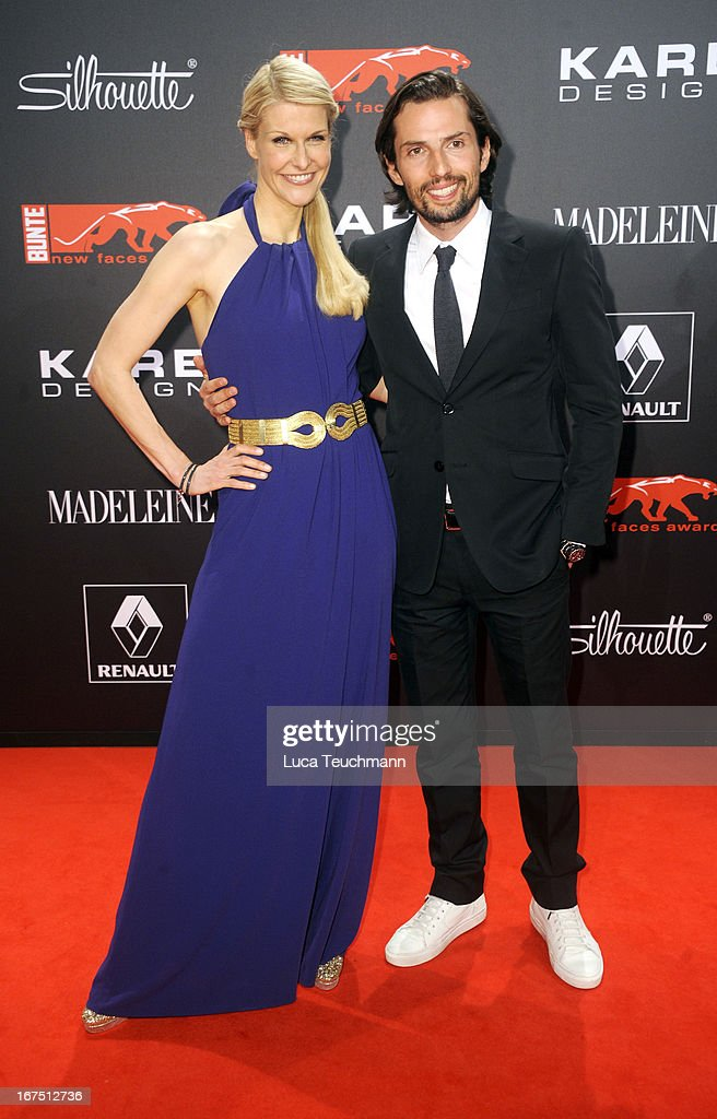 Natascha Gruen and Quirin Berg attend the new faces award Film 2013 at Tempodrom on April 25, 2013 in Berlin, Germany.