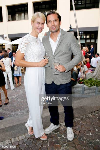 Natascha Gruen and Quirin Berg during the Christian Louboutin Store Opening on June 23 2017 in Munich Germany