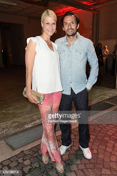 Natascha Gruen and Qurin Berg attend the Shocking Shorts Award 2015 during the Munich Film Festival on June 30 2015 in Munich Germany