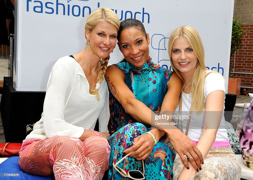 Natascha Gruen, Annabelle Mandeng and Tanja Buelterattend the Gala Fashion Brunch at Ellington Hotel on July 5, 2013 in Berlin, Germany.