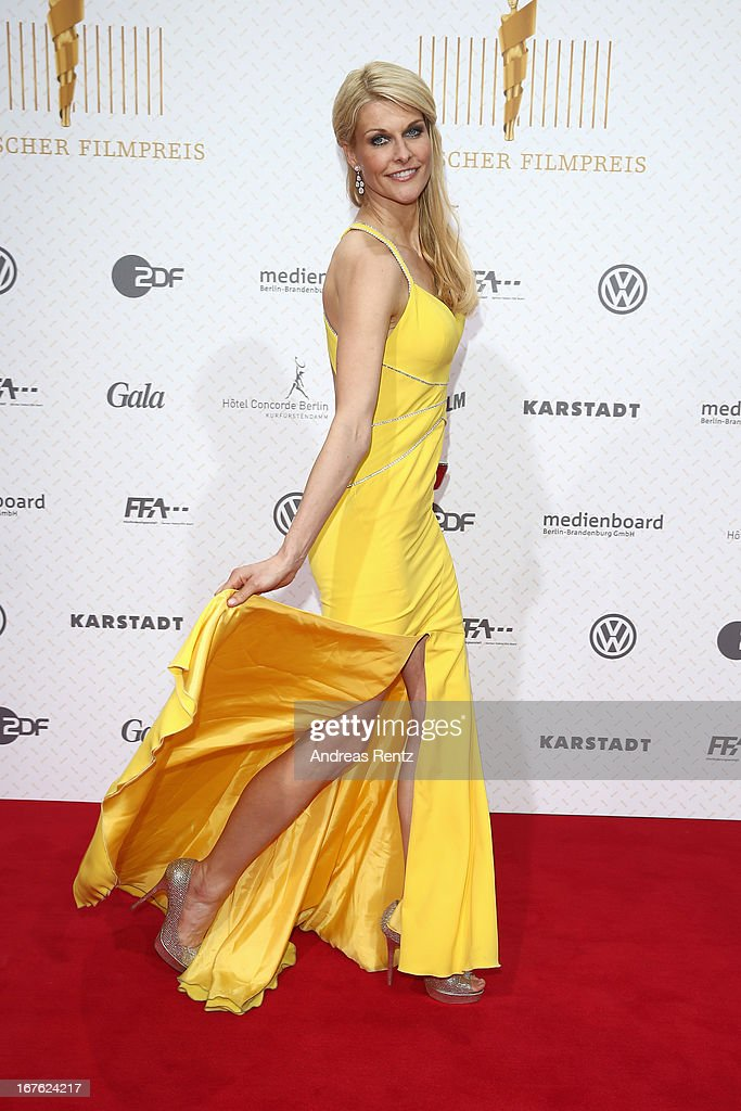 Natascha Gruen arrives for the Lola - German Film Award 2013 at Friedrichstadt-Palast on April 26, 2013 in Berlin, Germany.