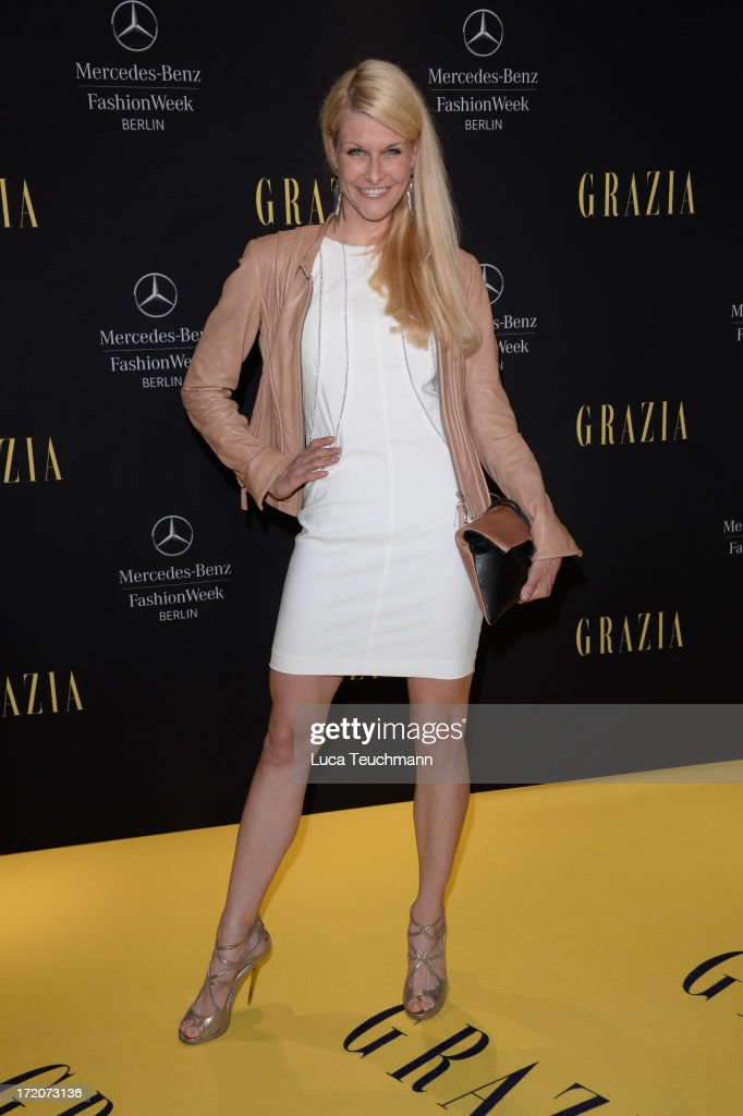 Natascha Gruen attends the Mercedes-Benz Fashion Week Berlin Spring/Summer 2014 Preview Show by Grazia at the Brandenburg Gate on July 1, 2013 in Berlin, Germany.