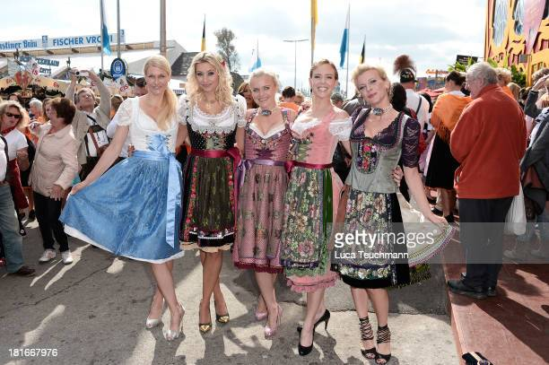 Natascha Gruen Verena Kerth Barbara Sturm Isabel Edvardsson and Eva Habermann attend attends the 'Sixt Damen Wiesn' in Hippodrom tent at...