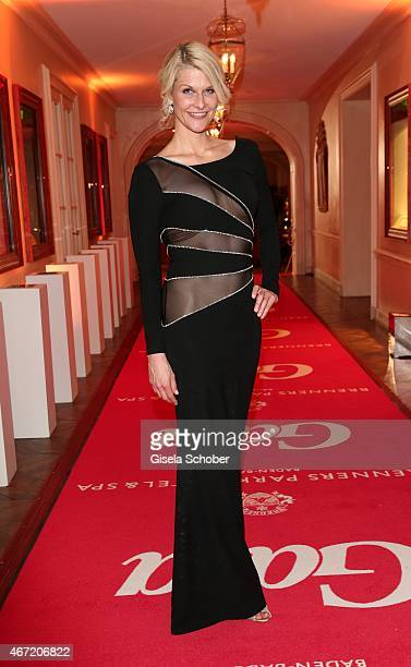 Natascha Gruen wearing a dress by dresscodedcom during the Gala Spa Awards 2015 at Brenners ParkHotel Spa on March 21 2015 in BadenBaden Germany