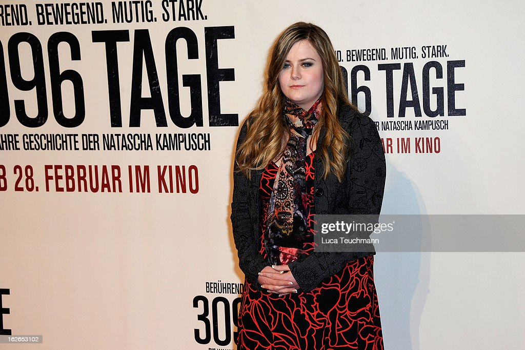 <a gi-track='captionPersonalityLinkClicked' href=/galleries/search?phrase=Natascha+Kampusch&family=editorial&specificpeople=2432790 ng-click='$event.stopPropagation()'>Natascha Kampusch</a> attends the '3096 Tage' World Premiere at Cineplexx Wienerberg on February 25, 2013 in Vienna, Austria.