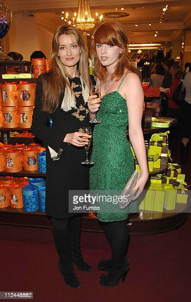 Natascha McElhone and guest during 'Becoming Jane' London Premiere Party at Fortnum Mason in London Great Britain