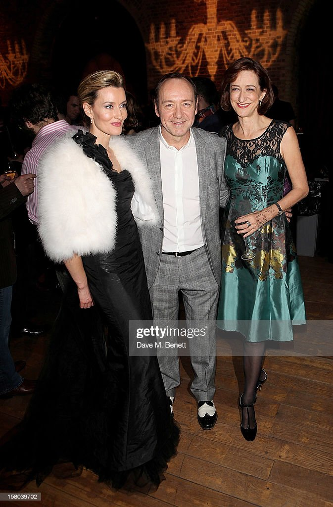 Natascha McElhone, Artistic Director Kevin Spacey and Haydn Gwynne attend an after party celebrating the 24 Hour Musicals Gala Performance at Vinopolis on December 9, 2012 in London, England.