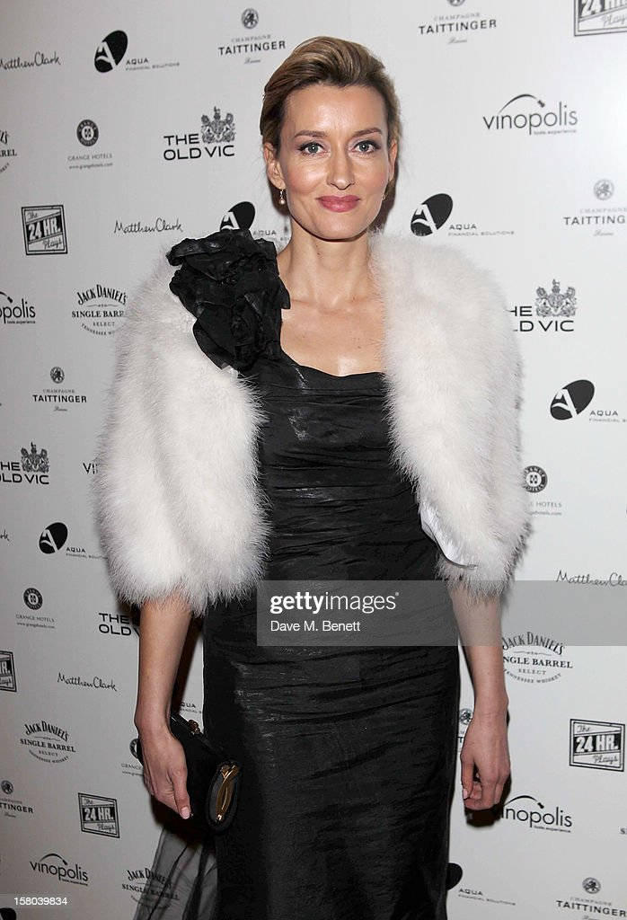 Natascha McElhone attends an after party celebrating the 24 Hour Musicals Gala Performance at Vinopolis on December 9, 2012 in London, England.