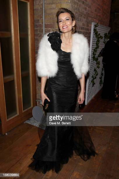 Natascha McElhone attends an after party celebrating the 24 Hour Musicals Gala Performance at Vinopolis on December 9 2012 in London England