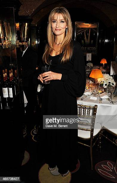 Natascha McElhone attends the Charles Finch and Chanel PreBAFTA cocktail party and dinner at Annabel's on February 8 2013 in London England
