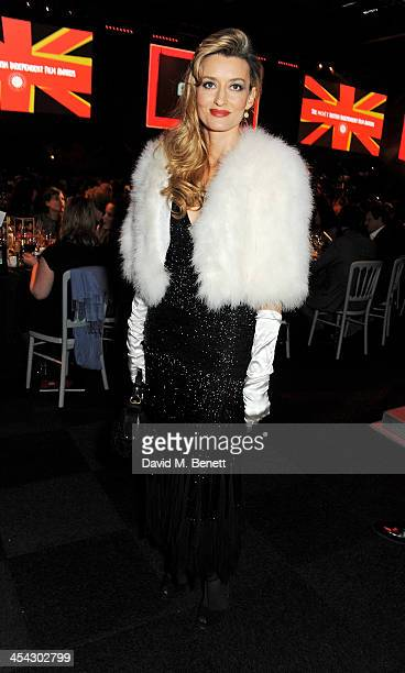 Natascha McElhone attends the Moet Reception at the Moet British Independent Film Awards 2013 at Old Billingsgate Market on December 8 2013 in London...