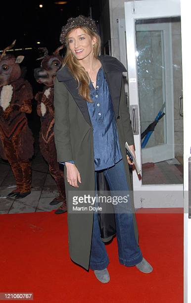 Natascha McElhone attends the press night of 'The Snowman' on December 6 2007 at the Peacock Theatre in London England