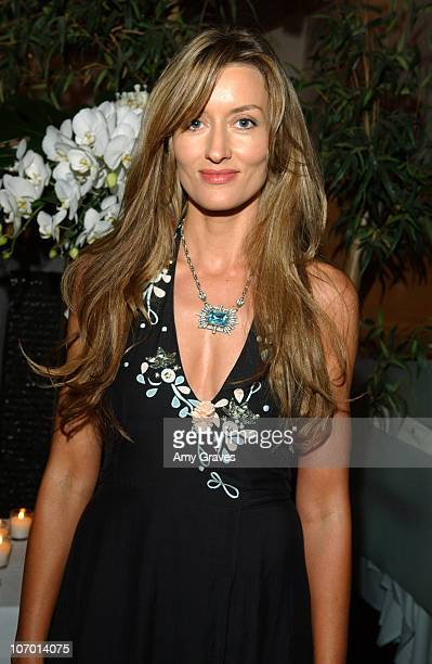Natascha McElhone during Allure and Linda Wells's Summer Cocktail Party at Hamasaku Restaurant in Los Angeles California United States