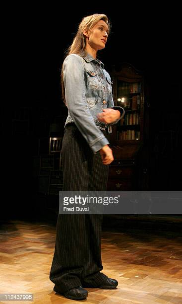 Natascha McElhone during 'Honour' at Wyndham's Theatre Photocall at Wyndham's Theatre in London Great Britain