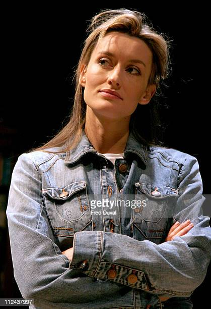 Natascha McElhone during 'Honour' at Wyndham's Theatre Photocall at Wyndham's Theatre in London Great Britain