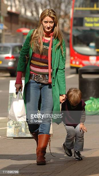 Natascha McElhone during Natascha McElhone Sighting on Kings Road in London April 4 2006 at Kings Road in London Great Britain