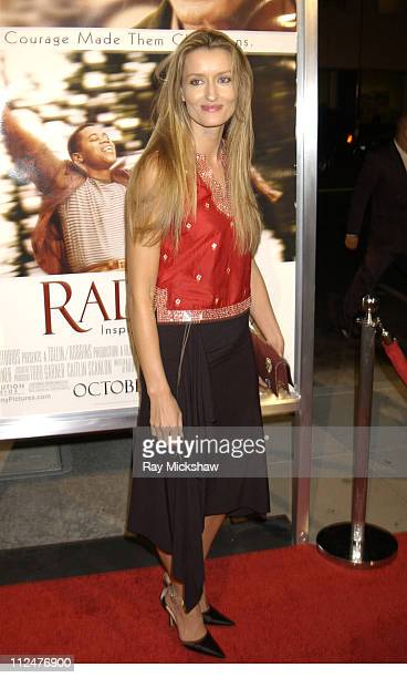 Natascha McElhone during 'Radio' Premiere Red Carpet at Academy of Motion Pictures Arts and Sciences in Beverly Hills California United States