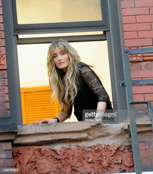 Natascha McElhone is seen on location for 'Californication' on the streets of Manhattan on April 21 2012 in New York City