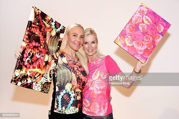 Natascha Ochsenknecht and Anna Heesch attend the presentation of the 'BILDSCHOEN' collection by Natascha Ochsenknecht at Ellington Hotel on November...
