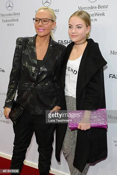 Natascha Ochsenknecht and Cheyenne Ochsenknecht attend the Riani show during the MercedesBenz Fashion Week Berlin Autumn/Winter 2015/16 at...