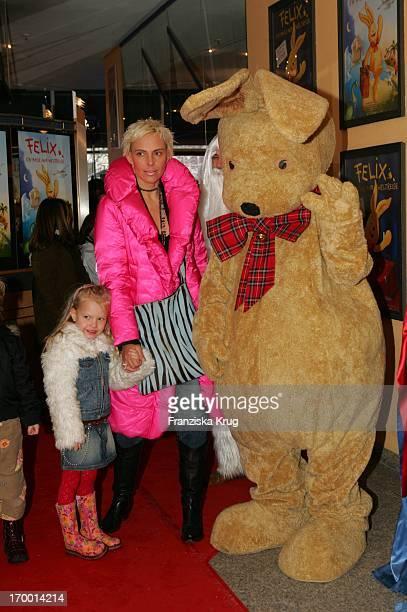 Natascha Ochsenknecht And Daughter Cheyenne At The Premiere Of Children Cinema movie 'Felix A hare on world tour' The Maxx cinema in Munich