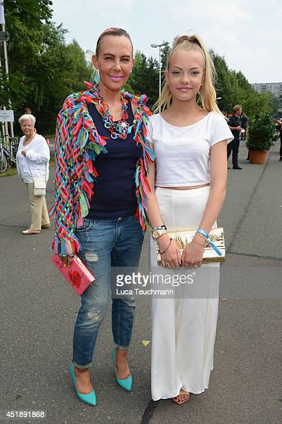Natascha Ochsenknecht and daughter Cheyenne Ochsenknecht attend the Glaw show during the MercedesBenz Fashion Week Spring/Summer 2015 at Erika Hess...