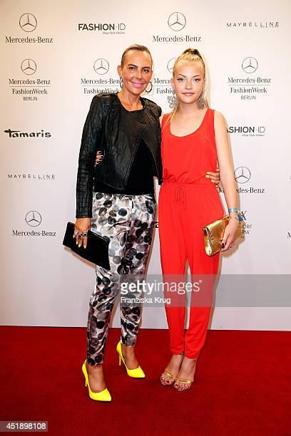 Natascha Ochsenknecht and daughter Cheyenne Ochsenknecht attend the Minx by Eva Lutz show during the MercedesBenz Fashion Week Spring/Summer 2015 at...