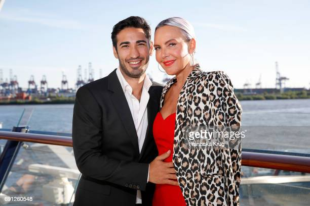 Natascha Ochsenknecht and her boyfriend Umut Kekilli are seen during the naming ceremony of the cruise ship 'Mein Schiff 6' on June 1 2017 in Hamburg...