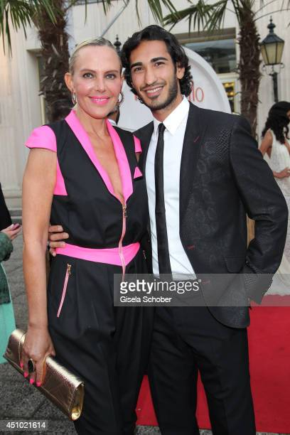 Natascha Ochsenknecht and her boyfriend Umut Kekilli attend the Raffaello Summer Day 2014 at Kronprinzenpalais on June 21 2014 in Berlin Germany