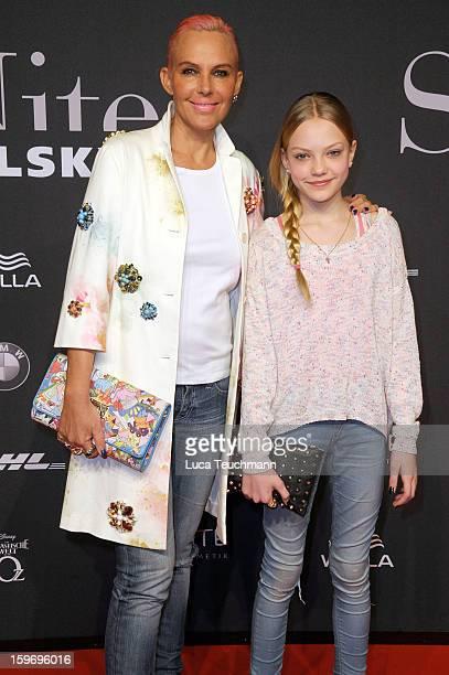 Natascha Ochsenknecht and her daughter Cheyenne Ochsenknecht attend Michalsky Style Nite Arrivals MercedesBenz Fashion Week Autumn/Winter 2013/14 at...