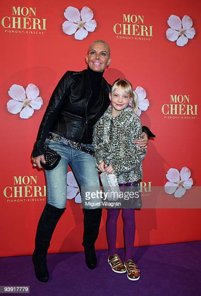 Natascha Ochsenknecht and her daughter Cheyenne Ochsenknecht attend the 'Barbara Day' on December 4 2009 in Munich Germany