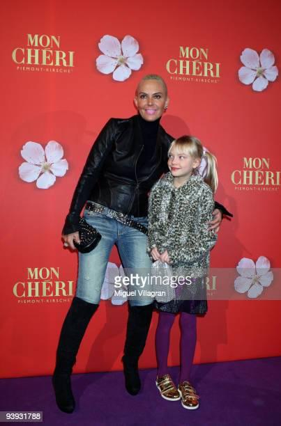 Natascha Ochsenknecht and her daughter Cheyenne Ochsenknecht attend the 'Barbara Day' on December 4 2009 in Munich Germany