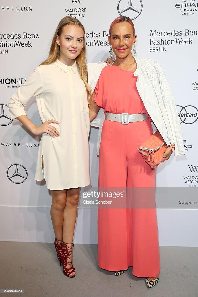 Natascha Ochsenknecht and her daughter Cheyenne Savannah Ochsenknecht attend the Minx by Eva Lutz show during the MercedesBenz Fashion Week Berlin...