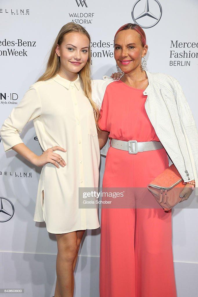 Natascha Ochsenknecht (R) and her daughter Cheyenne Savannah Ochsenknecht attend the Minx by Eva Lutz show during the Mercedes-Benz Fashion Week Berlin Spring/Summer 2017 at Erika Hess Eisstadion on June 29, 2016 in Berlin, Germany.
