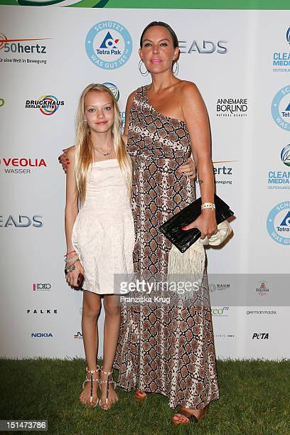 Natascha Ochsenknecht and her doughter Cheyenne attend the Clean Tech Media Award at Tempodrom on September 7 2012 in Berlin Germany