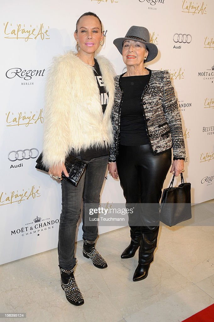 Natascha Ochsenknecht and her mother attend Les Galeries Lafayettes Re-Open Ground Floor on November 14, 2012 in Berlin, Germany.