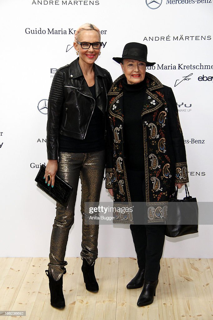 Natascha Ochsenknecht (L) and her mother Baerbel attend the Guido Maria Kretschmer For eBay Collection Launch at Label 2 on April 10, 2013 in Berlin, Germany.