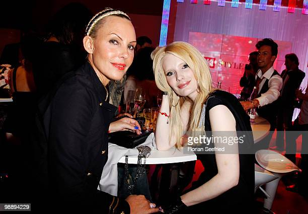 Natascha Ochsenknecht and Mirja du Mont attend the 'OK Style Award 2010' at the british embassy on May 6 2010 in Berlin Germany