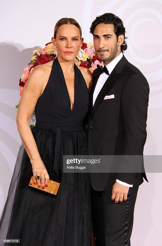 Natascha Ochsenknecht and Umut Kekilli attend the charity event 'Rosenball' at Hotel Intercontinental on April 30, 2016 in Berlin, Germany.