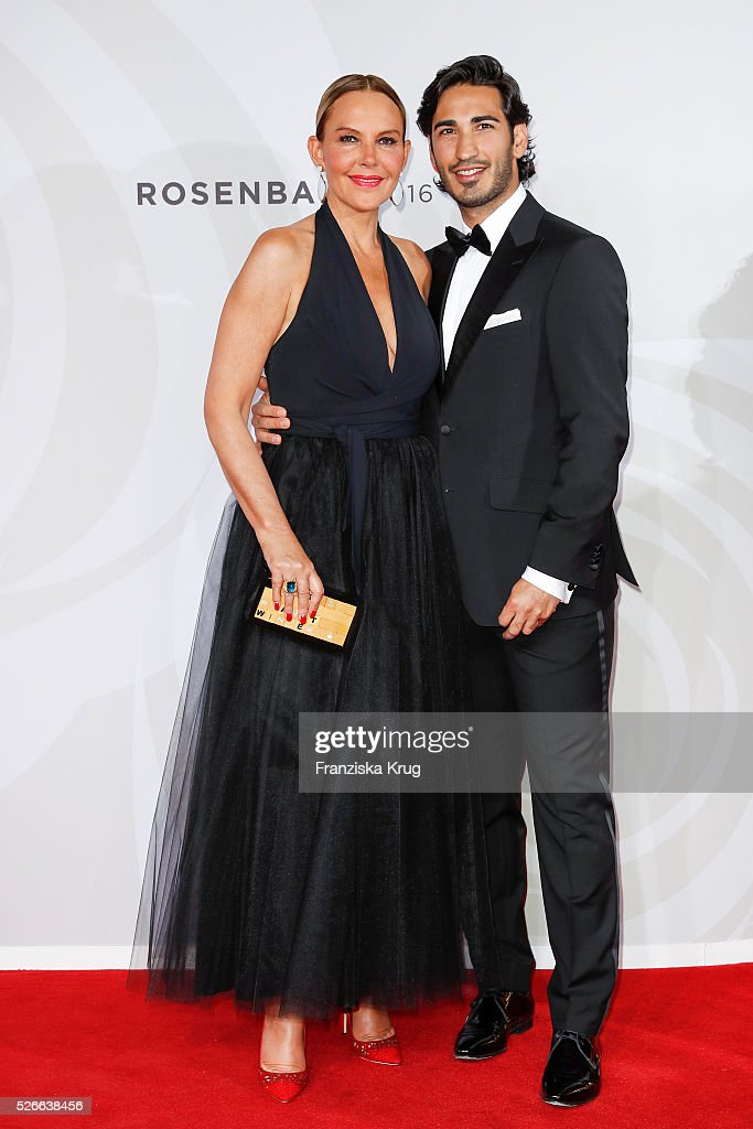 Natascha Ochsenknecht and Umut Kekilli attend the Rosenball 2016 on April 30 in Berlin, Germany.